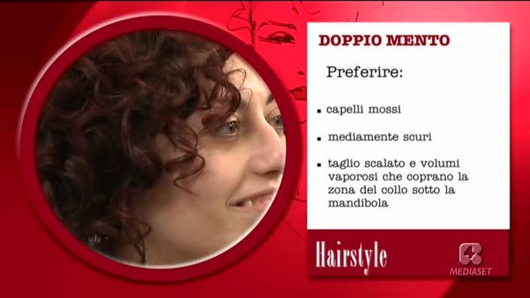 Taglio capelli viso doppio mento