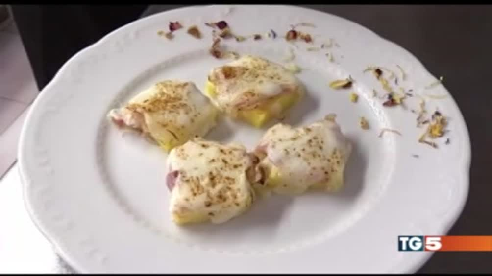 Gnocchi con pancetta e formaggio