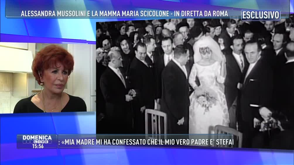 Matrimonio Romano Mussolini E Maria Scicolone : Video domenica live il matrimonio di maria scicolone