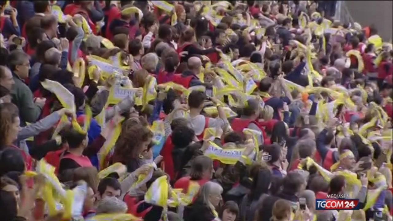Video tgcom24 milano il papa accolto a san siro da for Aste giudiziarie milano ultimi arrivi
